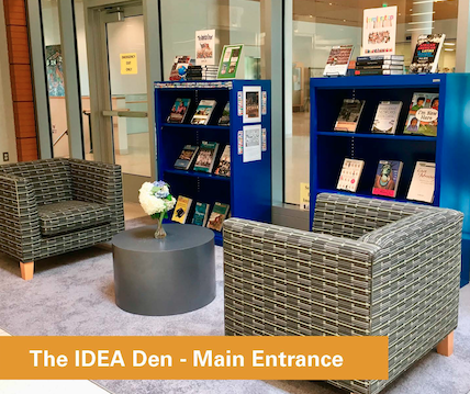 Image of the IDEA Den seating area in the lobby