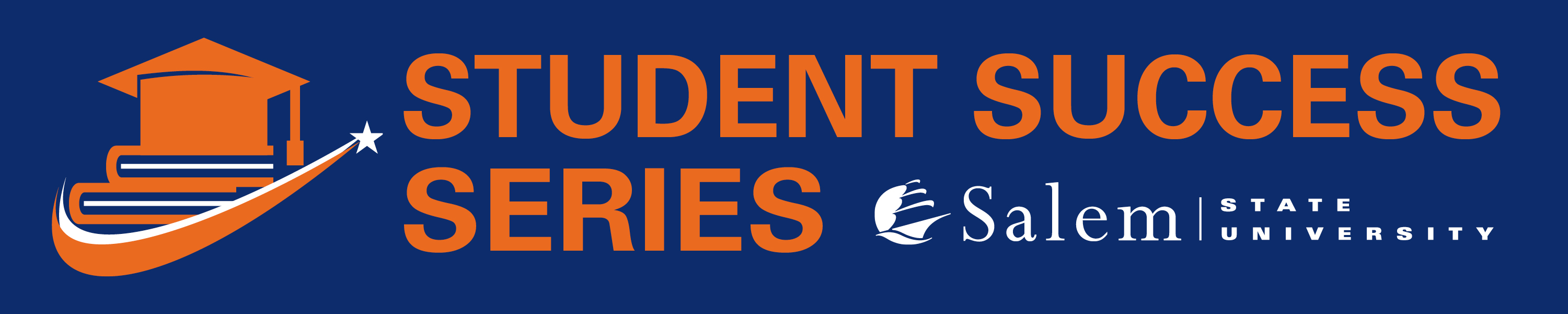 """Image of Diploma and books with text """"Student Success Series"""" and university lo…"""