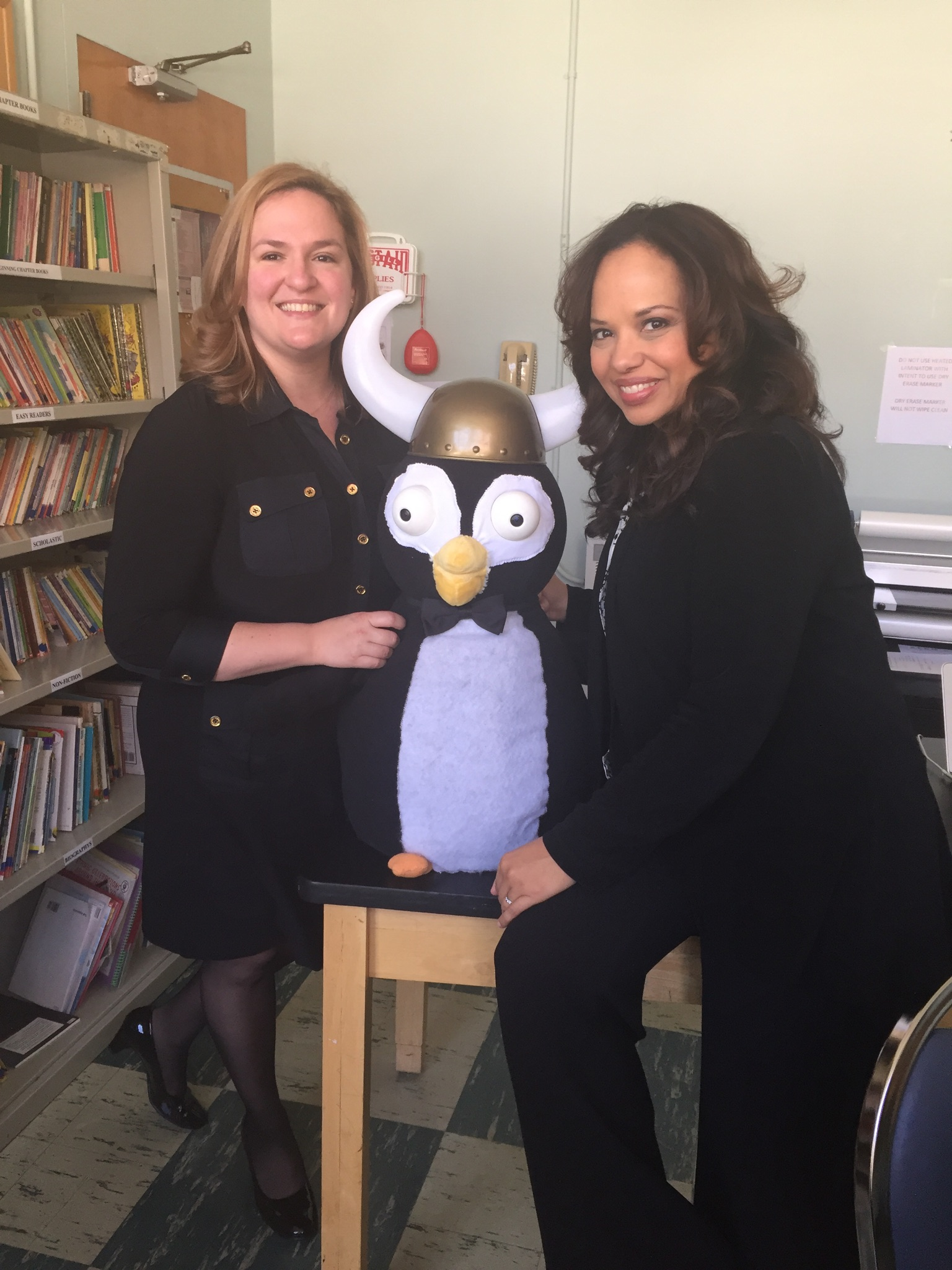 Laurie Dickstein-Fischer with Dr. Mallika Marshall of WBZ-TV.
