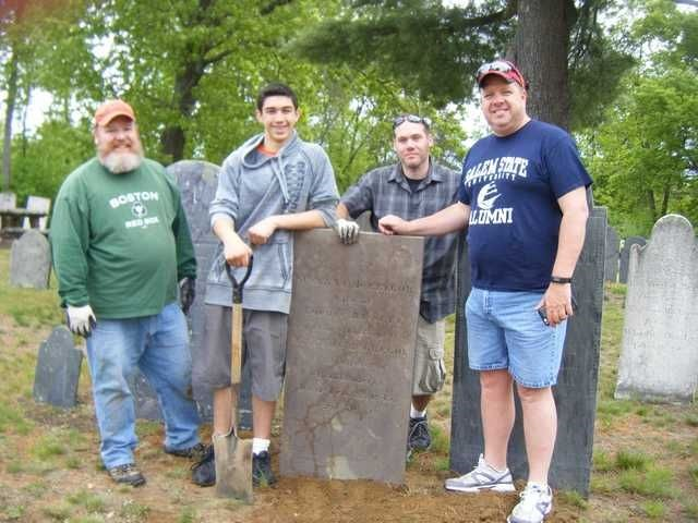 Salem State alumni at Forest Hills Cemetery during Global Day of Service this J…