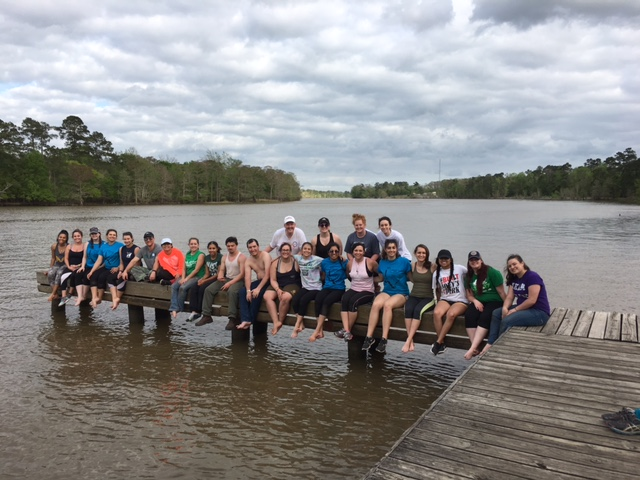 Community Service Initiative students on the Noches River in Texas; Spring Brea…