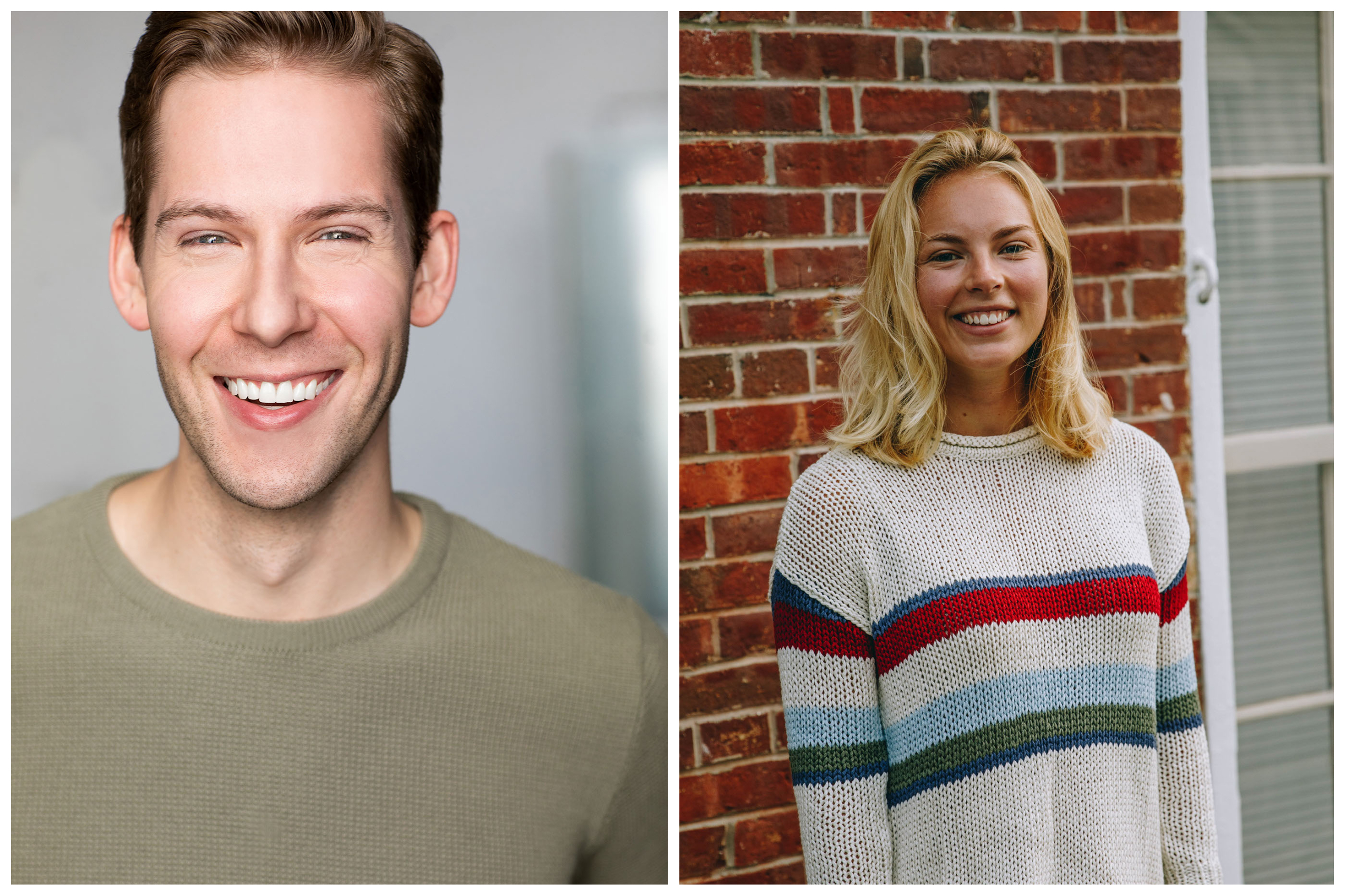 Headshots of Andrew Jones (left) and Annie Hollister (right). They are the univ…