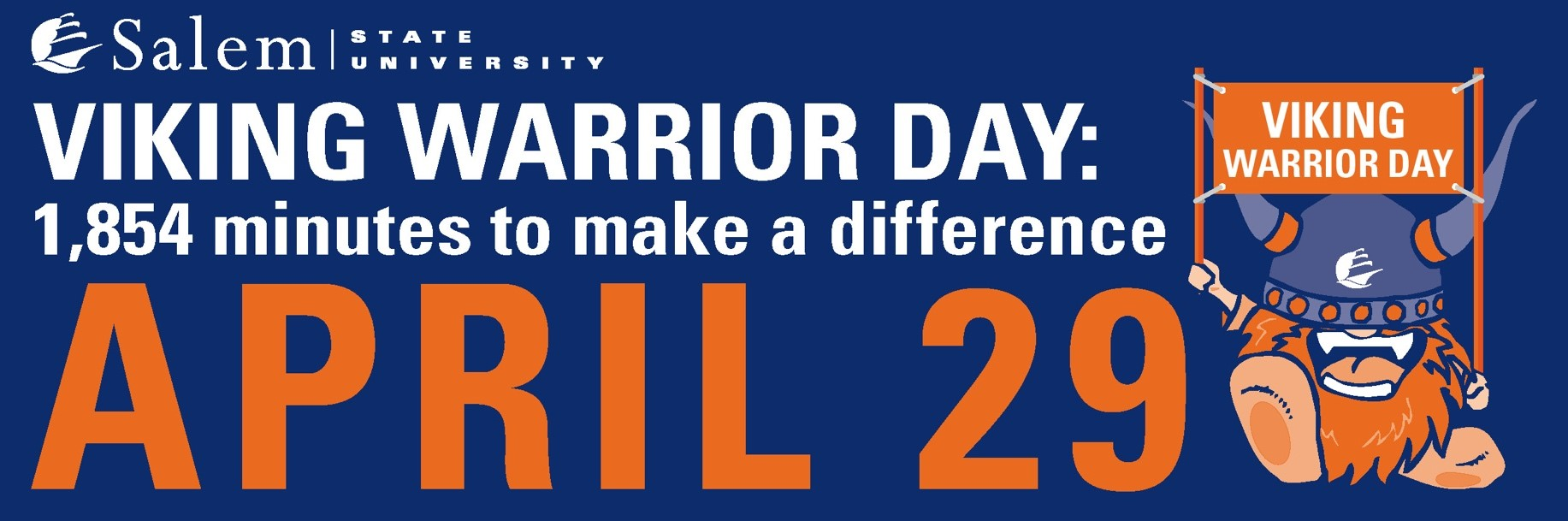 Salem State University Viking Warrior Day 1854 Minutes to Make a Difference Apr…