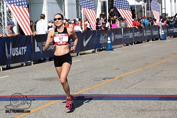 SMS Faculty member Bretty Ely finishes the 2016 Olympic Trials Marathon (photo …
