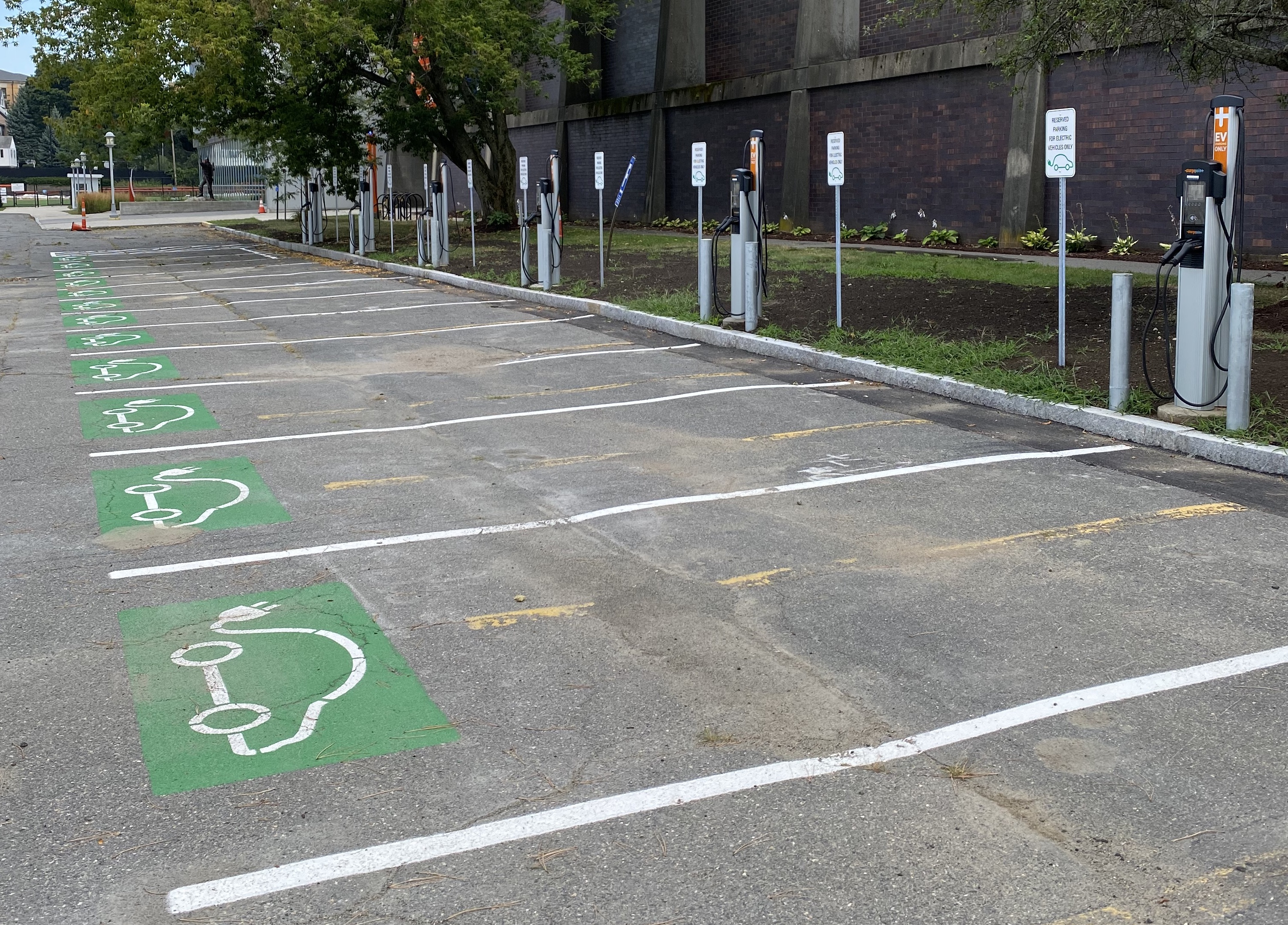 New EV charging stations at O'Keefe are ready for use.