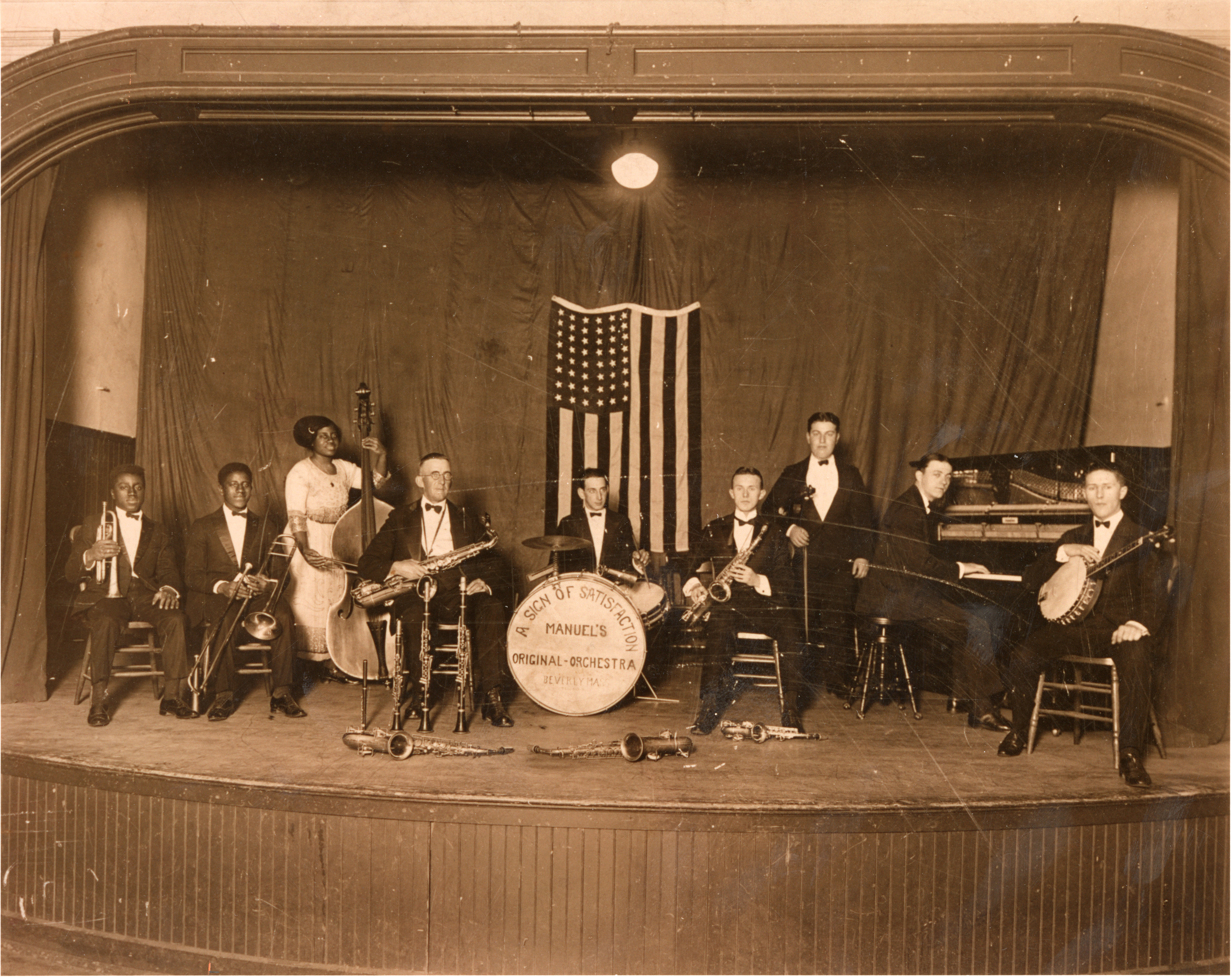 Manuel's Original Orchestra, Beverly, Massachusetts. Photograph attributed to L…