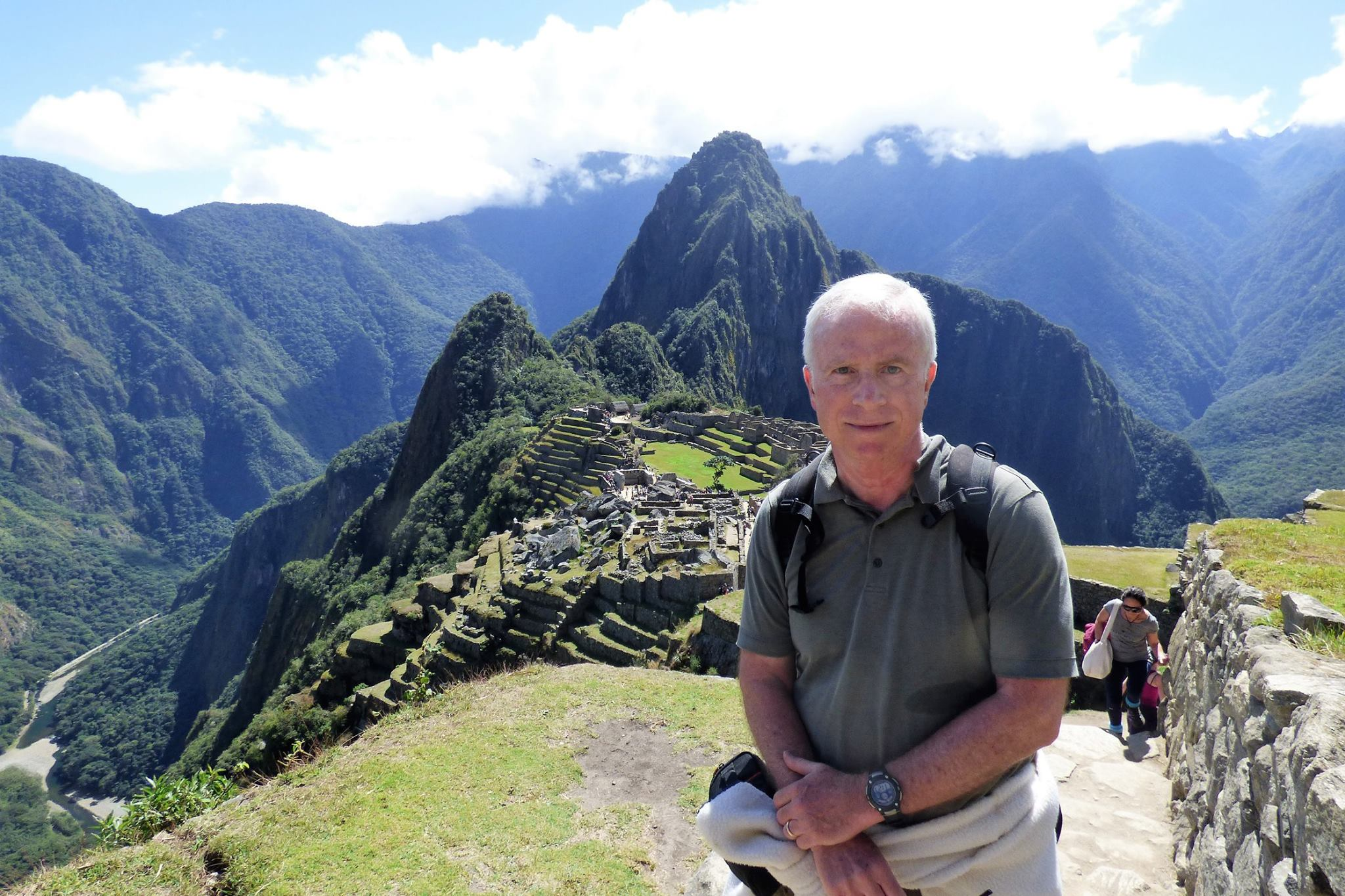 Professor Chris Hudson during previous sabbatical in Machu Picchu