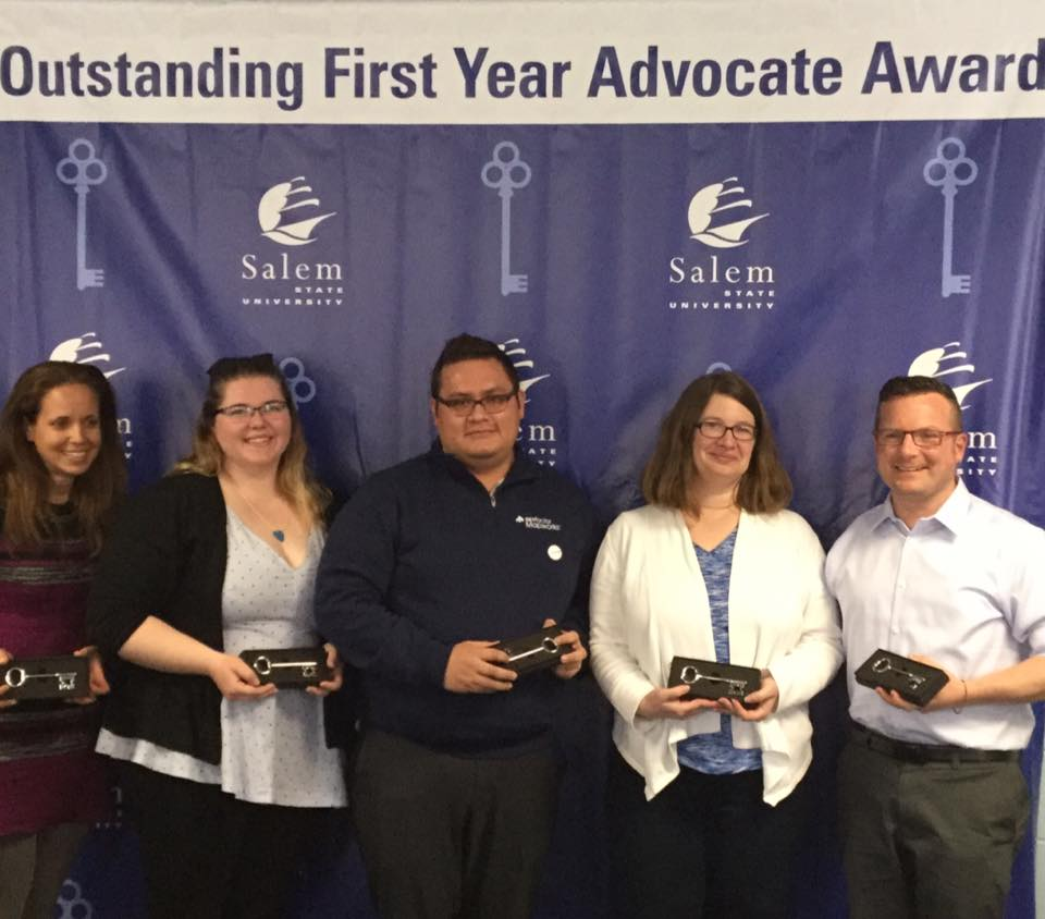 Group photo of the Outstanding First Year Advocate Winners (Kristina Scott, Kai…