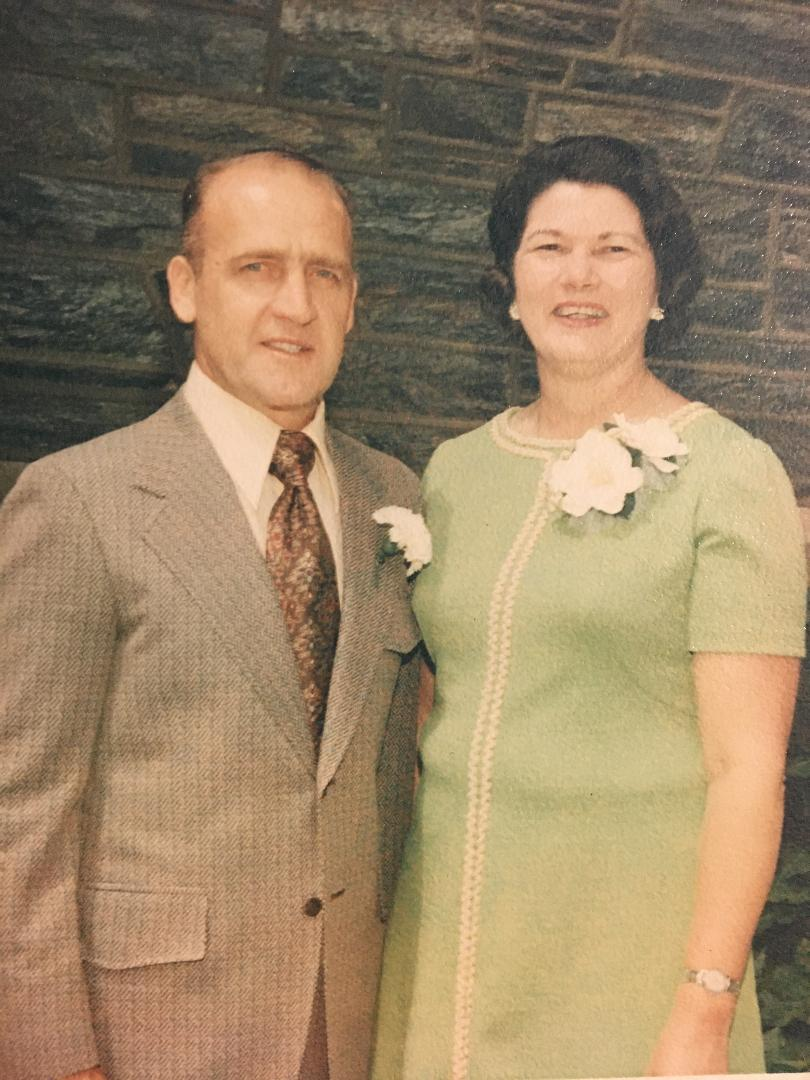 """""""Betty and Walter Groce in 1972"""""""