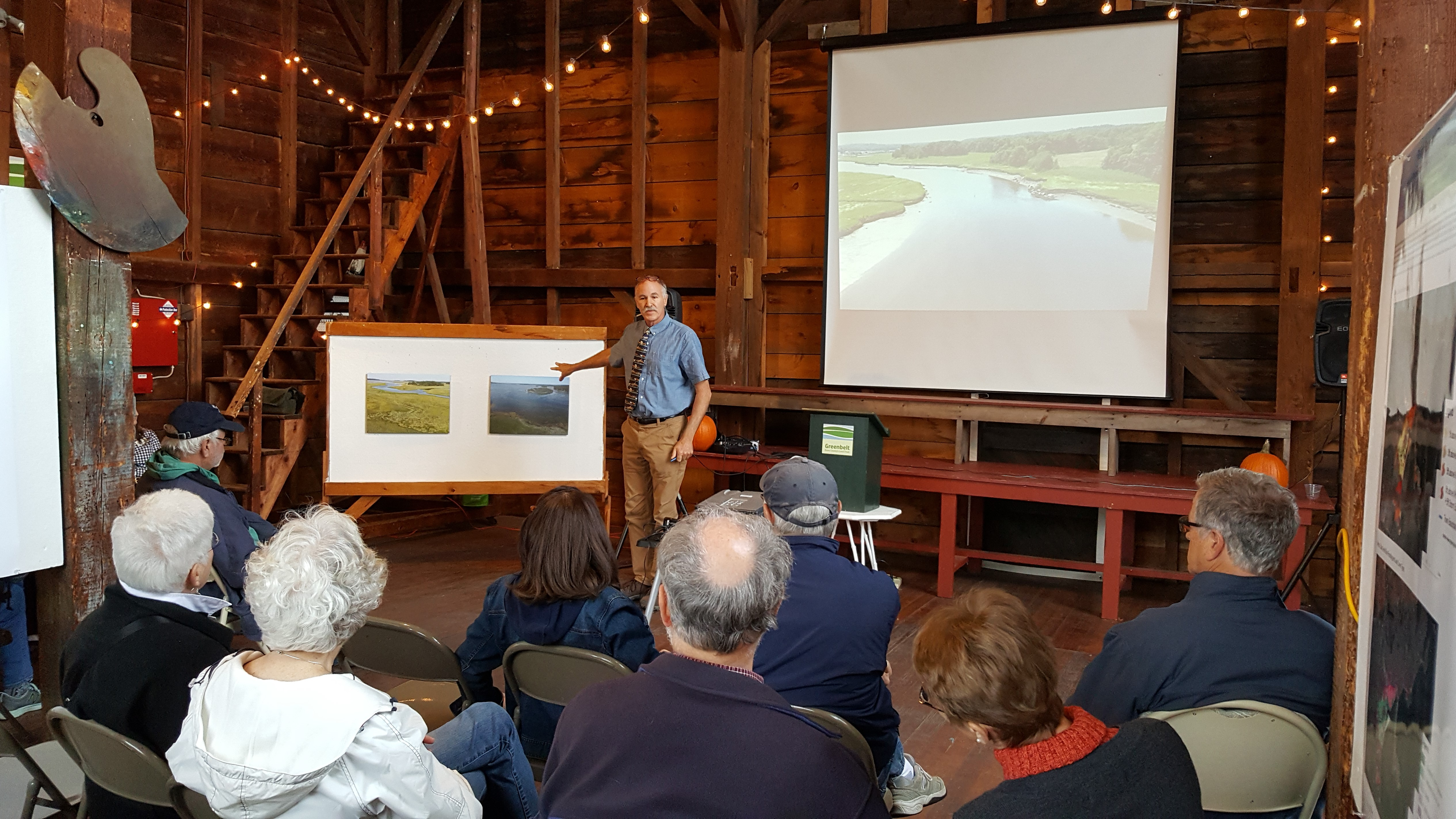 Professor Stephen Young presenting at exhibition on October 6