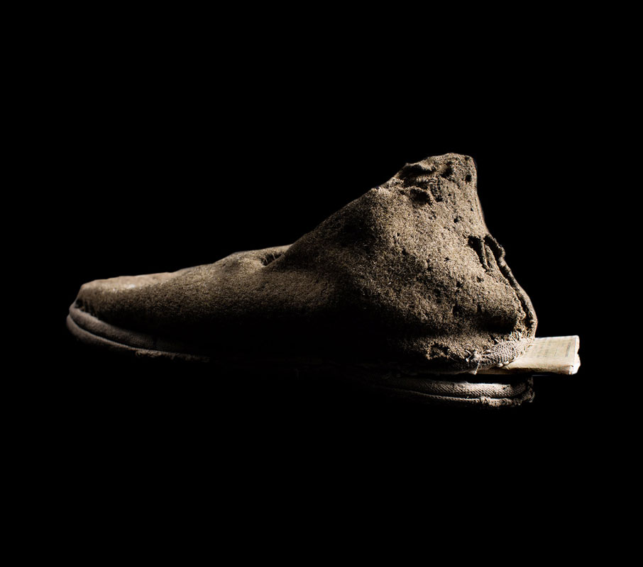 Wiesel's photograph of documents secretly stored in the shoe of a female prison…