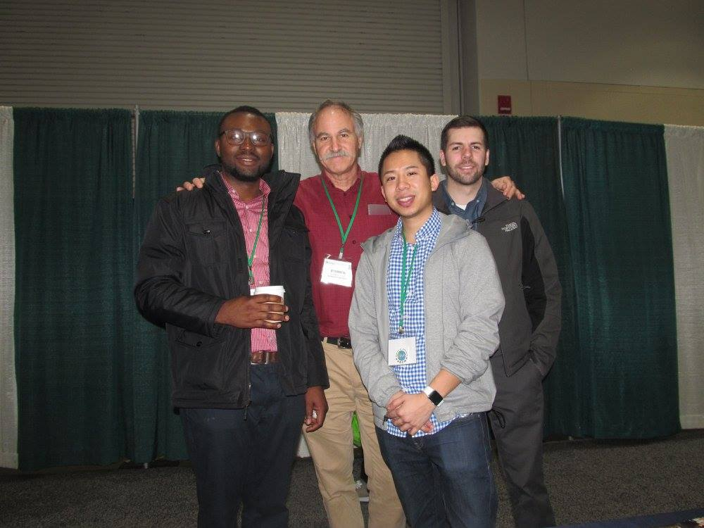 Professor Young with graduate students Jeremiah Isibor, Ratha Suon, and Nichola…