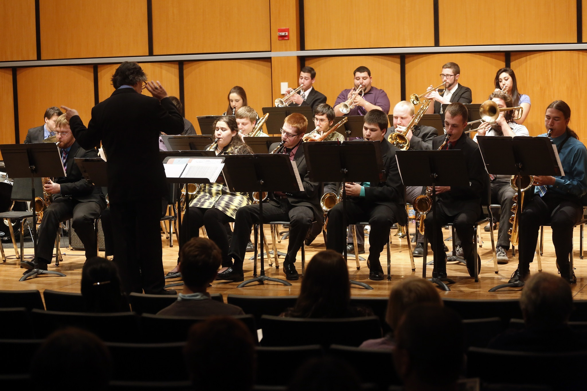 Salem State Jazz Band performing in the Recital Hall
