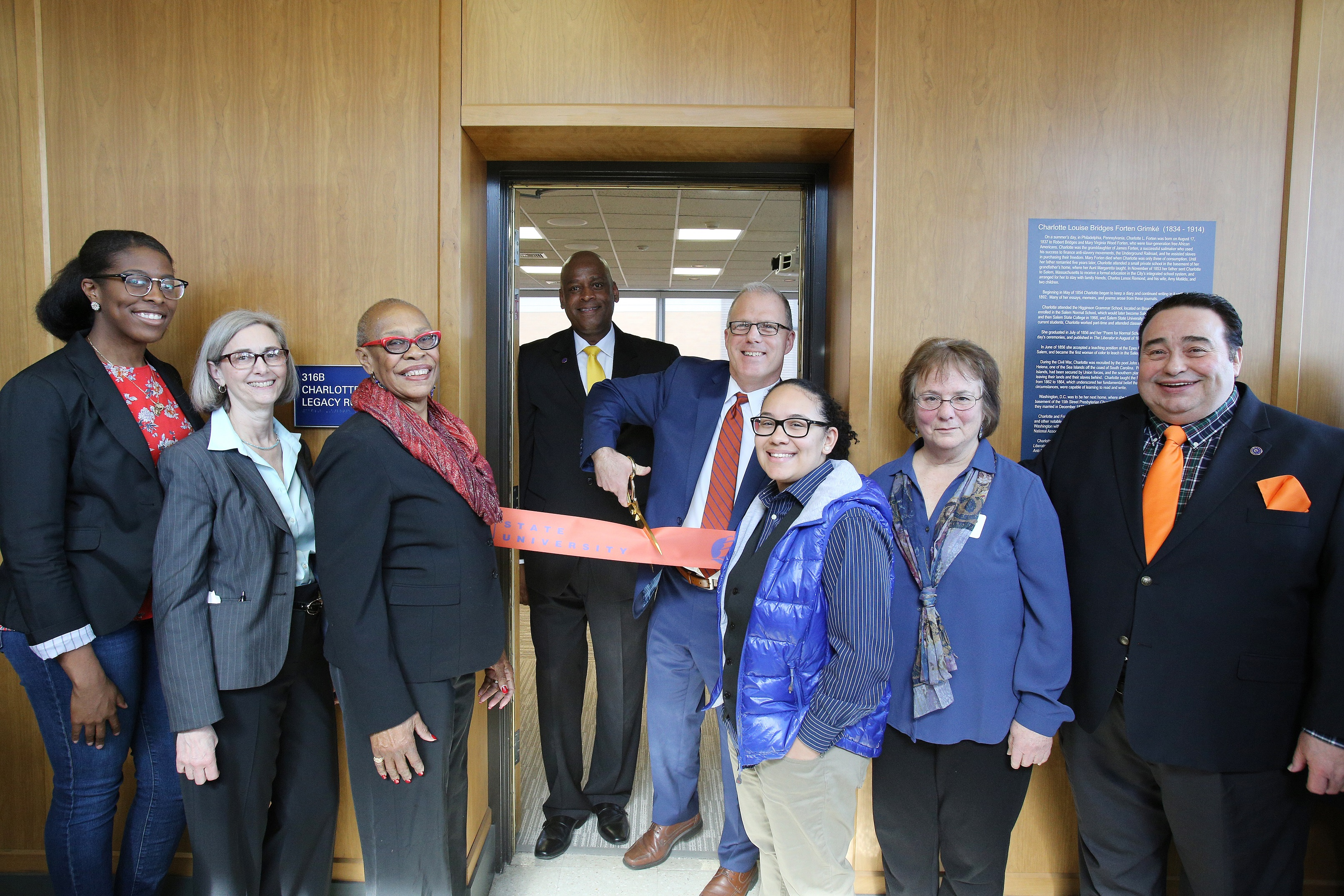 Charlotte Forten Legacy Room Ribbon Cutting